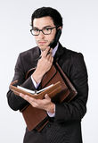 Busy young businessman Royalty Free Stock Photos