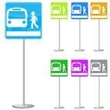 Buszeichen Stockfoto