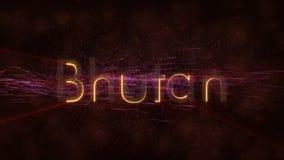 Butão - animação dando laços brilhante do texto do nome de país