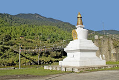 Butão, Haa, chorten Fotografia de Stock