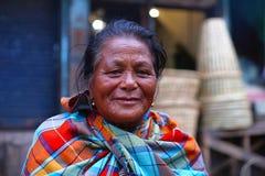 Butão, Meghalaya, Índia, em setembro de 2016, mulher adulta da comunidade de Khasi foto de stock