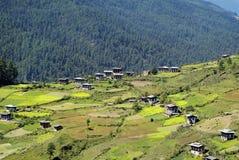 Butão, vale de Haa Fotos de Stock Royalty Free