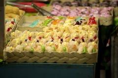 Butées toriques avec coloré et délicieux photo stock