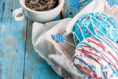 Butées toriques colorées pour le 4ème juillet Photos stock