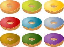 Butées toriques de glaçage givrées colorées Images libres de droits