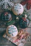 Butées toriques de Noël servies Photographie stock libre de droits