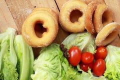 Butées toriques et sucre - salade de légume frais. Photo libre de droits