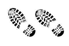 butów czarny ślada Obrazy Royalty Free
