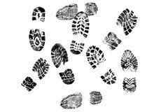 butów czarny ślada Fotografia Stock