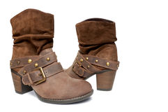 butów skóry para Zdjęcie Royalty Free