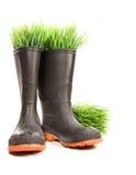 butów trawy gumowy biel zdjęcie royalty free