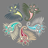 Buta o ornamento floral oriental Imagem de Stock