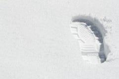 buta odcisk stopy jeden śnieg Zdjęcie Royalty Free