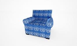 Butaca de la O.N.U Imágenes de archivo libres de regalías