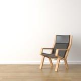 Butaca de madera en blanco Imagen de archivo libre de regalías
