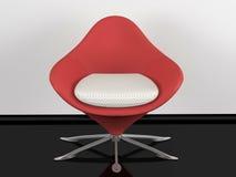 Butaca roja de la oficina de interior Fotografía de archivo