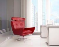Butaca roja en la oficina Fotos de archivo libres de regalías