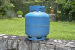 Butane. Cooking gas in cylinder Royalty Free Stock Photo