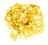 Butane Hash Shatter Isolated 03. An isolated shatter patty; purged, golden, and potent as a mule Stock Images