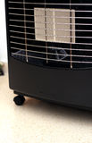 Butane heater. A butane gas fire heater and its element stock image