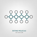 Butane Molecule Icon Royalty Free Stock Images