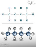 Butane Molecule Image Royalty Free Stock Photography