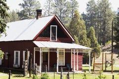 Butch Cassidy e Sundance caçoam nat da casa visto de Durango e de estrada de ferro do calibre estreito de Silverton, Colorado, EU Fotografia de Stock