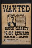 Cassidy wanted poster royalty free stock photography