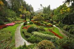 Butchard - jardine no console Vancôver em Canadá Foto de Stock Royalty Free