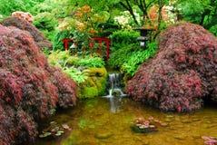 butchart庭院从事园艺日语 免版税库存图片