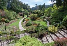 Butchart庭院在温哥华岛加拿大 免版税图库摄影