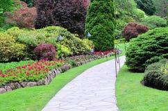 butchart庭院横向 库存照片