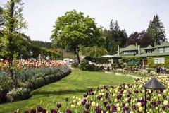 Butchart庭院,维多利亚, BC 免版税库存照片