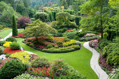 butchart κήποι Στοκ Φωτογραφία