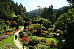 The butchart gardens Stock Photography
