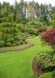 Butchart gardens. The sunken garden inside the historic butchart gardens, victoria, british columbia, canada stock photos