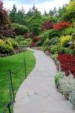 Butchart gardens. The sunken garden inside the historic butchart gardens, victoria, british columbia, canada stock photo
