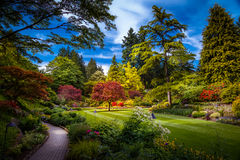 Butchart Gardens In Victoria, Canada Stock Images