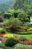 Butchart Gardens - Sunken Garden view. The famous Butchart Gardens at Victoria, B.C royalty free stock photos