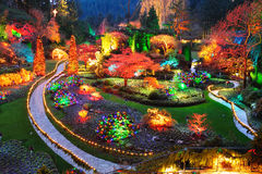 BUTCHART GARDENS VICTORIA BC  Stock Photo