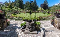 Butchart trädgårdar i den Vancouver ön Kanada fotografering för bildbyråer