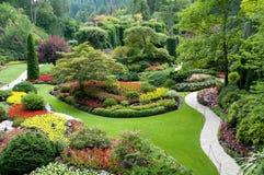 butchartträdgårdar Arkivbild