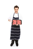 butcher режет представлять мяса Стоковое Фото