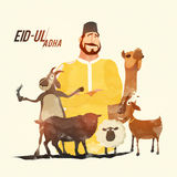 Butcher with Animals for Eid-Al-Adha Celebration. Royalty Free Stock Image