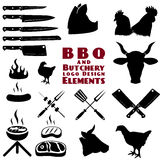 Butcher and bbq tools Royalty Free Stock Image