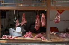 Butcher, Beijing, China Royalty Free Stock Images