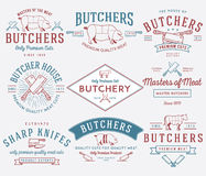The butcher bundle 2 colored Royalty Free Stock Photo