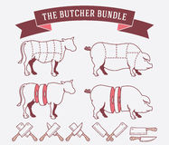 The butcher bundle colored Stock Images