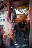 Butcher in chitral Royalty Free Stock Images