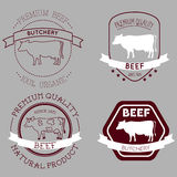 Butcher cow labels Royalty Free Stock Photography